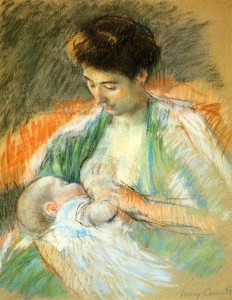 Mother Rose Nursing Her Child - Mary Cassatt